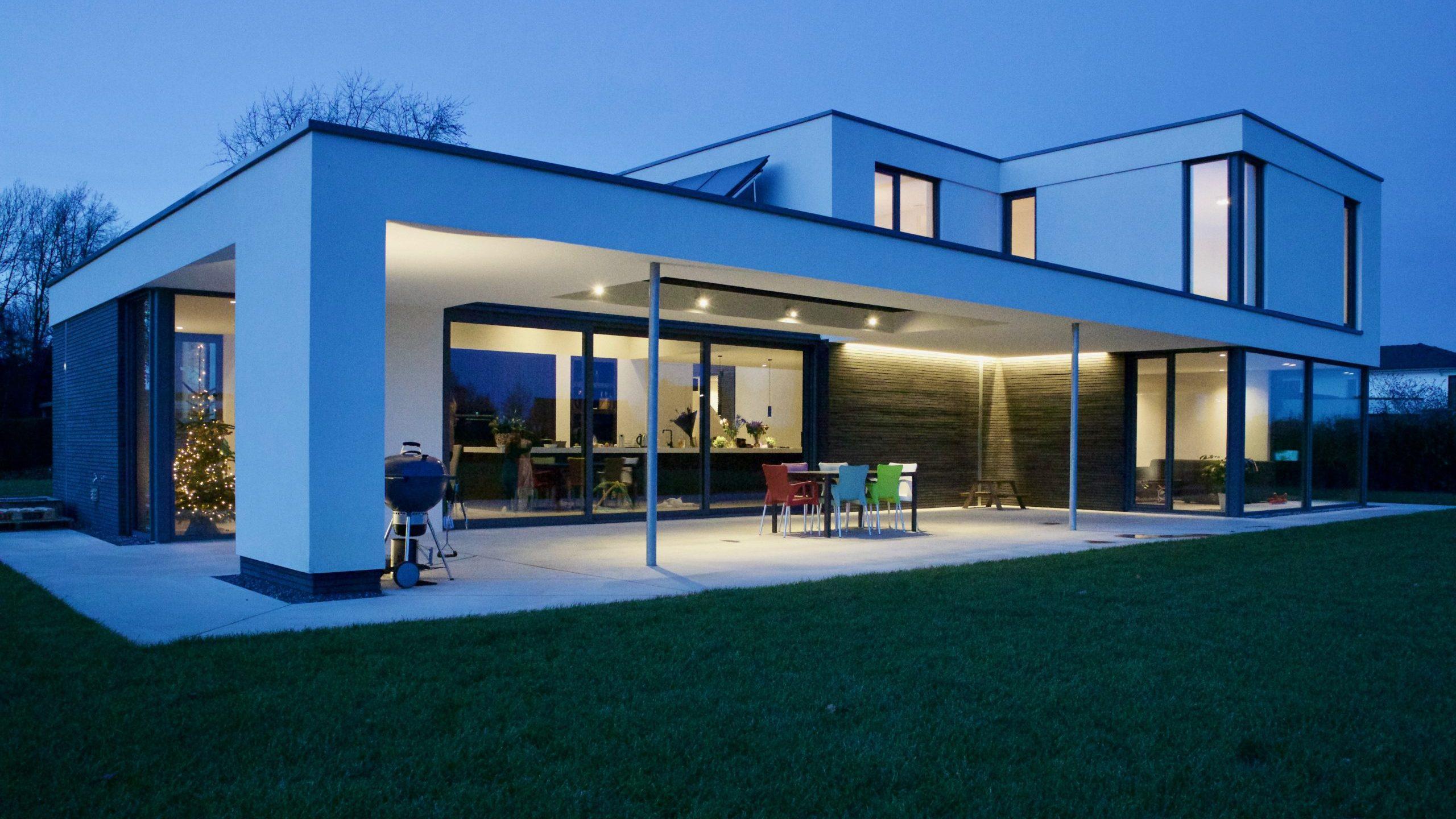 villa modern stucwerk architect baarlo eindhoven
