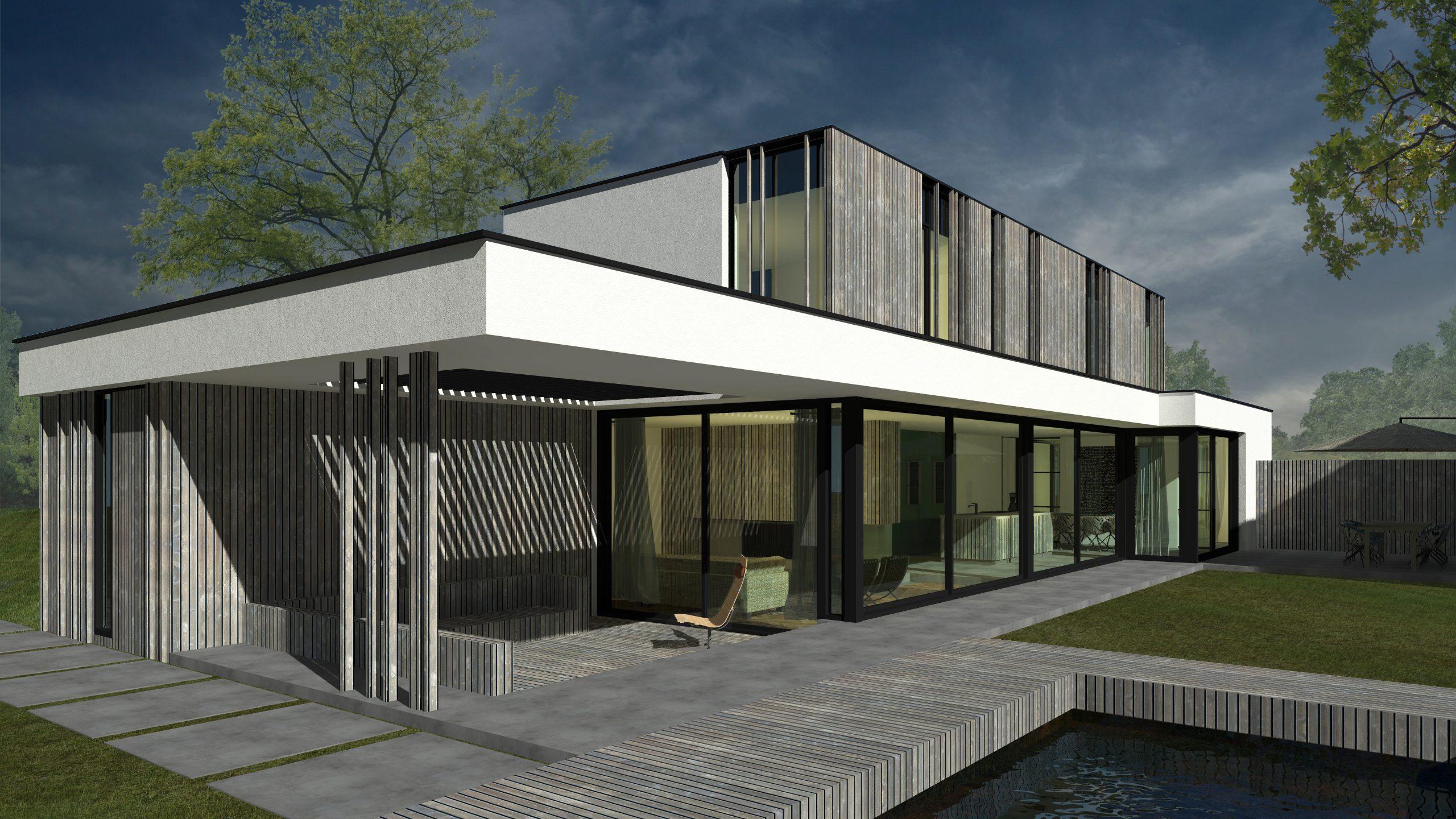 architect moderne villa Stijp-R